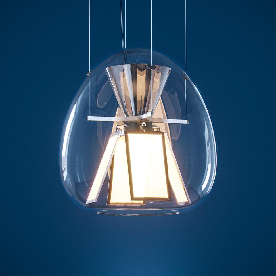 Harry H., luminario suspendido, ©Artemide.